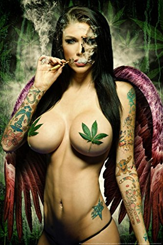 Hot Babe Poster - Ganja Girl by Daveed Benito Mural Giant Poster 36x54 inch