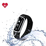 Fitness Tracker - Wireless Heart Rate Monitor - Lifesense waterproof Smart Activity Wristband Pedometer Watch Sport Bracelet (Band 2s)