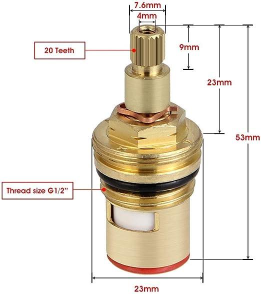 SING F LTD Lot de 2 cartouches de rechange en plastique pour robinet mitigeur de salle de bain 40 mm