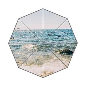 RainbowRain Beach Vacation Swim Ocean Sea Summer Nature Custom Foldable Umbrella 01