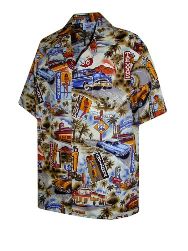 Pacific Legend Mens Route RT 66 Shirt in Sand - 2X