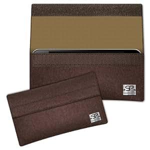 SIMON PIKE Cáscara Funda de móvil NewYork 15 marrón Samsung C3750 Fieltro de lana