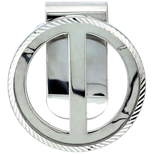 Sterling Silver Silver Eagle Money Clip for 1 oz. Bulion 40.6 mm Coin Not Included ()
