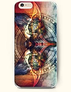 OOFIT New Apple iPhone 6 ( 4.7 Inches) Hard Case Cover - Butterfly and Time
