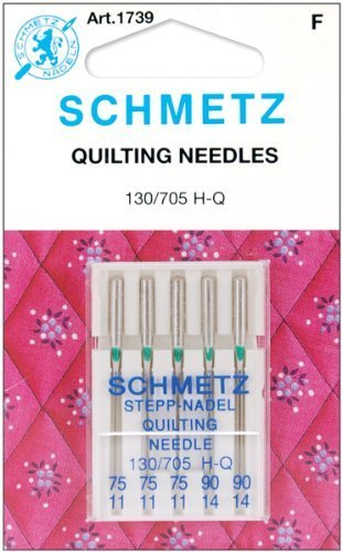 25 Schmetz Assorted Quilting Sewing Machine Needles 130/705H H-Q Sizes 75/11 and 90/14