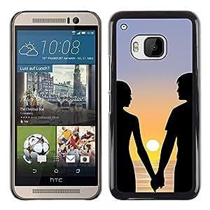 Stuss Case / Funda Carcasa protectora - Couple Romance Love Beach Sunset Sea Ocean - HTC One M9