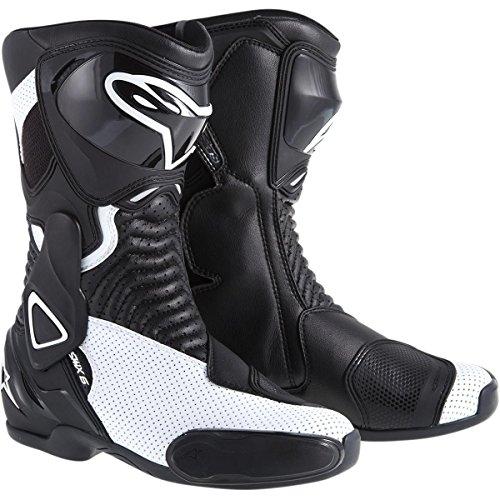 (Alpinestars SMX-6 Vented Women's Street Motorcycle Boots - Black/White / 39)