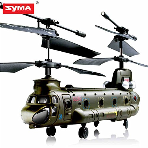 Rc Helicopters Wholesale (New Syma S026G S026 3.5CH Infrared Mini Micro Chinook Remote Control RC Helicopter Gyro RTF Kid Toy Gift)