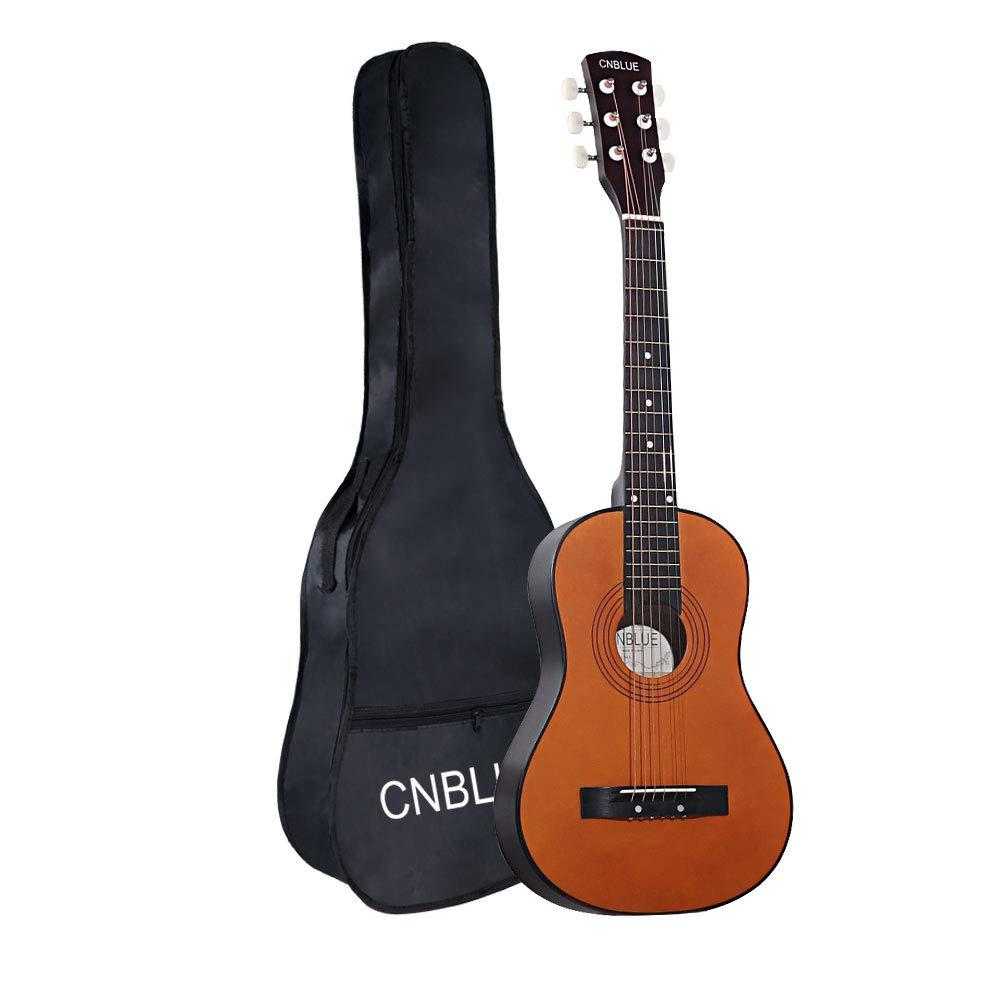 Kid Beginner Guitar Classical Guitar Acoustic Guitar 1/2 Half Size 30 inch Wood Steel Strings Guitar by CNBLUE