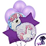 BirthdayExpress Enchanted Unicorn Party Supplies - Balloon Bouquet