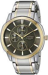 Armitron Men's 20/5051DGTT Multi-Function Two-Tone Bracelet Watch