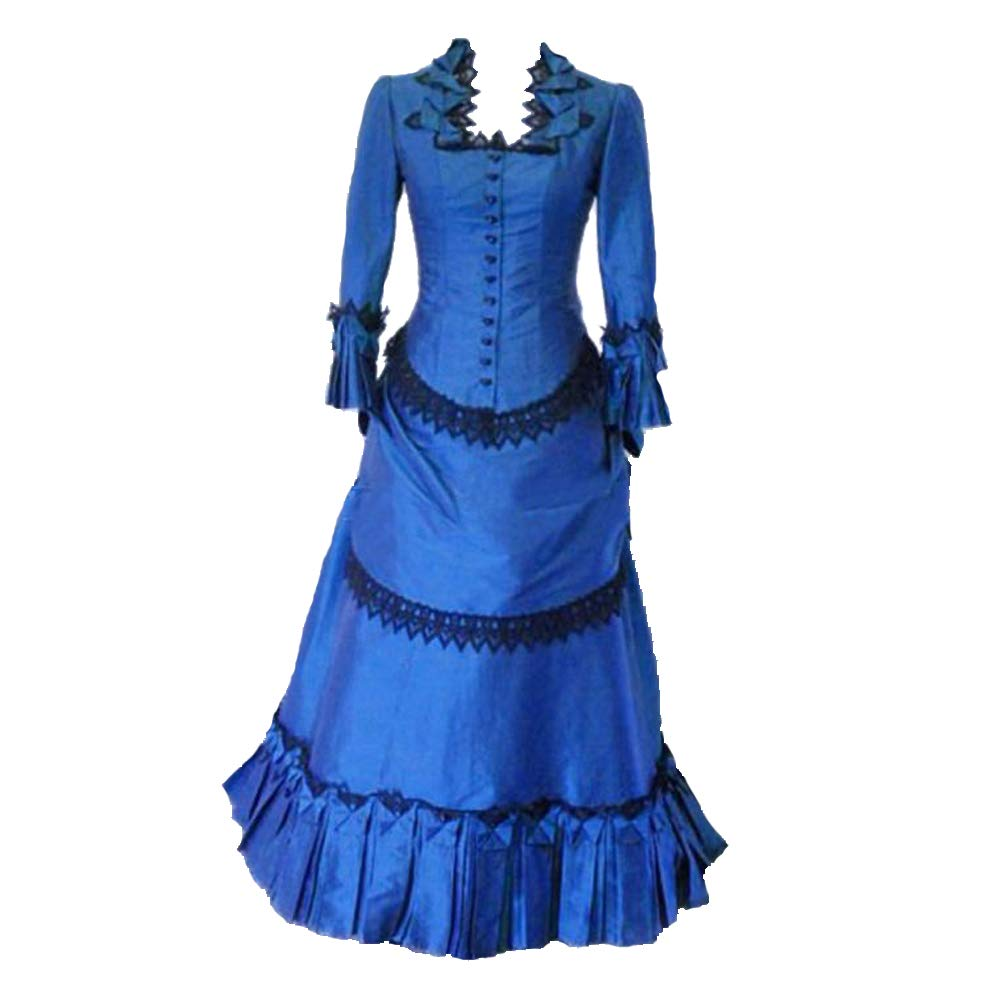 1890s-1900s Fashion, Clothing, Costumes Steampunk Victorian Gothic Cosplay Costume Victorian Bustle Dress Gown Costume Edwardian Dress $152.00 AT vintagedancer.com