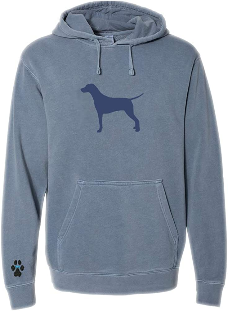 Heavyweight Pigment-Dyed Hooded Sweatshirt with/ Dalmatian Silhouette