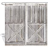 SZZWY Wooden Barn Door Decoration Bathroom Shower Curtain Western Country Theme Vintage Country Farmhouse Decoration Set…