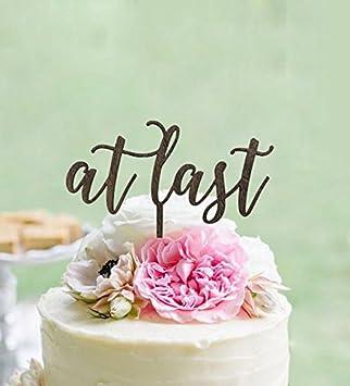 Endlich Hochzeit Cake Topper Rustikal Country Chic Hochzeit Cake
