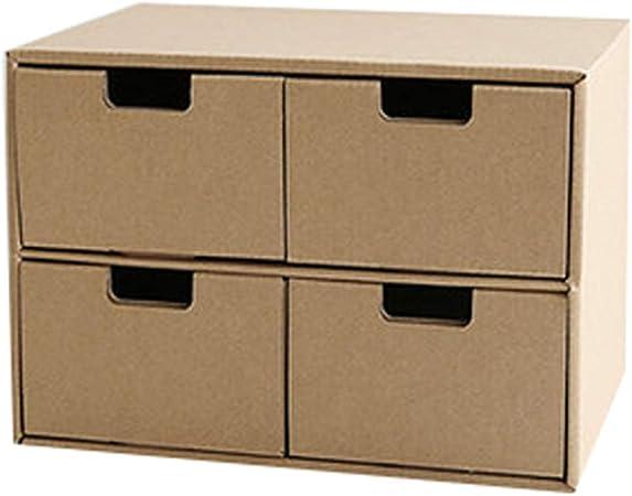 Archivadores HUXIUPING Caja de Almacenamiento Papel Escritorio Caja de Almacenamiento Oficina Estudiante Caja de Acabado Combinación Libre Cajón Multicapa: Amazon.es: Hogar