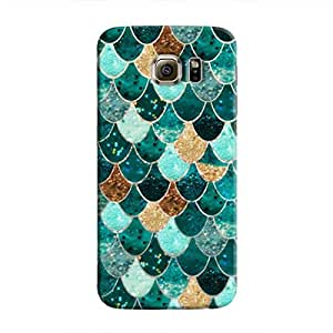 Cover It Up - Emerald Scales Galaxy S6 EdgeHard Case