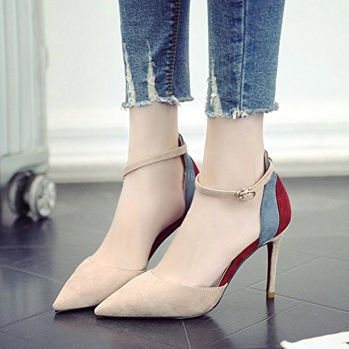 Alta Y Con Muelle De Color Heel De Zapatos Para El Mujer Punta Zapatos Singles Shoes GAOLIM Bien Estrecha Femeninos Una qt5vUawH