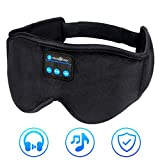 WUMINGLU Sleep Headphones,Bluetooth 5.0 Sleeping Headphones 2019 Upgraded Wireless Eye Mask Music Travel Sleep Mask Build in Microphone Washable for Side Sleepers