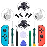 2-Pack 3D Replacement Joystick Analog Thumb Stick and Metal Buckle, 3D Analog Replacement Joystick for Nintendo Switch Joy-Con Analog Controller - with Y1.5&+2.0 Screwdriver, Pry Tool, Suction Cup