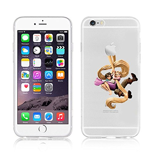 NEW DISNEY PRINCESSES TRANSPARENT CLEAR TPU SOFT CASE FOR APPLE IPHONE 7 PLUS - TANGLED