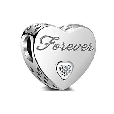 LOVE HEART S925 Silver Charms European Bead For Bracelet Chain Necklace