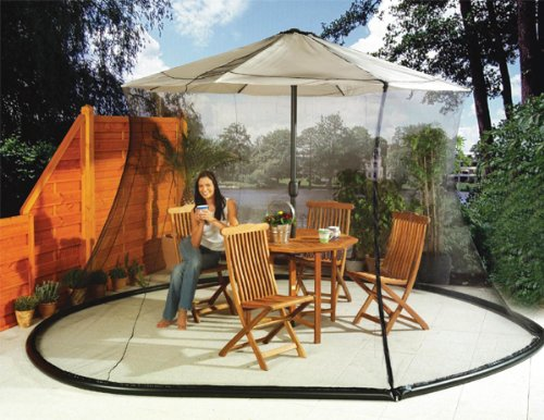 Cheap  Umbrella Mosquito Net Canopy Patio Set Screen House Black