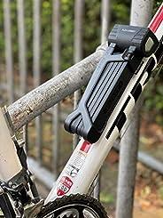 "Flex Connex Compact Bicycle Lock White - 35"" Extreme Lightweight & Cut Resistant Bike Lock - Heavy Du"