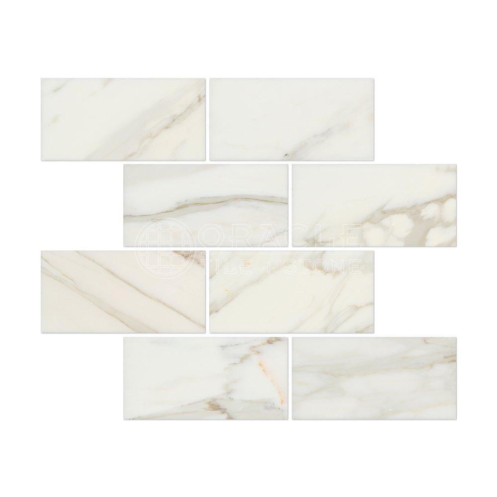 Calacatta gold italian calcutta marble 3 x 6 subway field tile calacatta gold italian calcutta marble 3 x 6 subway field tile honed amazon dailygadgetfo Images