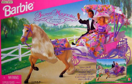 Barbie Sweet Magnolia HORSE & CARRIAGE SetWal Mart Special Edition (1996)