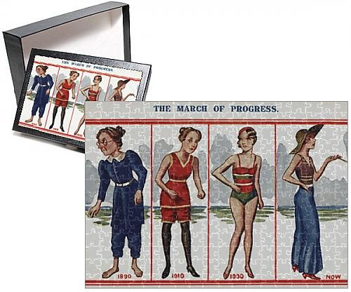 Photo Jigsaw Puzzle of The March of Progress - Changing Womens Beachwear Fashion