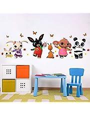B_R0003 Muurtattoo met stofeffect, Bing Cartoon, Flop Amma Pando Pad, decoratie voor kinderkamer