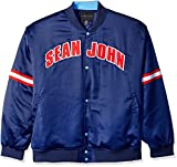 Sean John Men's Big and Tall Satin Jacket, Patriot Blue, 6XL/Big