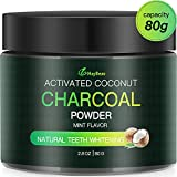 Teeth Whitening Charcoal Powder,MayBeau 80g Natural Coconut Activated Charcoal for Teeth Stain Removal, Polish&Rejuvenate Teeth, Enhance Gum Health And Refresh Breath