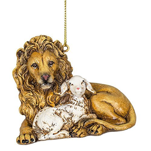 Joseph Studio Lion with Lamb Christmas Ornament by Roman