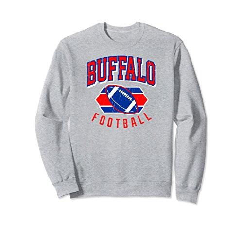 Bills Buffalo Vintage (Unisex Vintage Buffalo football Sweat Shirt XL Heather Grey)