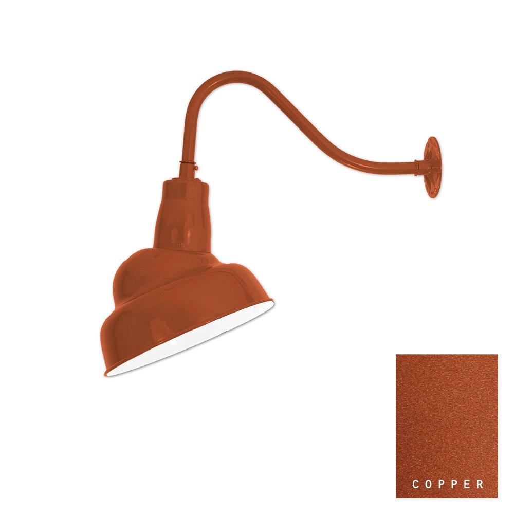LED Sign Light   Integrated LED   Gooseneck Light   6.5'' Shade   Barn Light  Color Options (15/859 LED) (Copper)