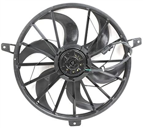 Amazon Com Crash Parts Plus Radiator Single Cooling Fan For Jeep