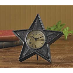 Black Star Table Clock