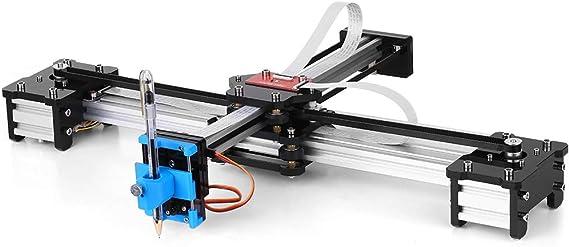 KKmoon Escritorio DIY Montado XY Plotter Pluma Dibujo Robot Máquina de Dibujo de Escritura A Mano Kit de Robot 100-240V: Amazon.es: Bricolaje y herramientas