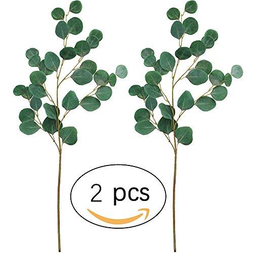 Supla 2 PCS Artificial Dollar Eucalyptus Bush in Green 33