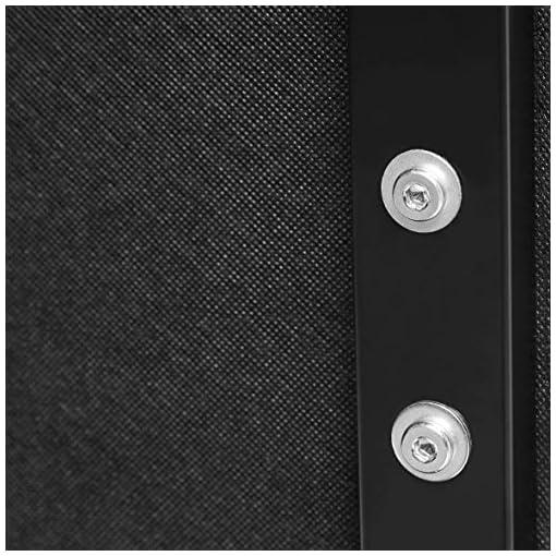 Bedroom Amazon Basics Modern Tufted Vinyl Upholstered Headboard – King, Black modern headboards