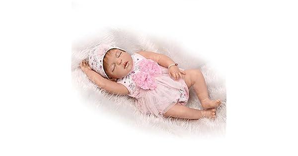 Amazon.com: Muñeco Reborn recién nacido bebé real (silicona ...