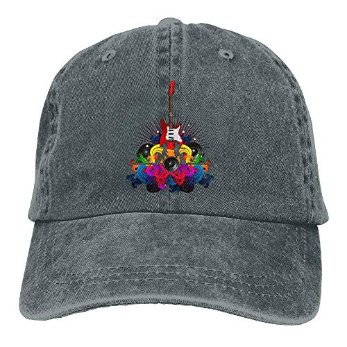 Caps Womens Plain Denim No Music béisbol Baseball Como Soy Hat Tu Guitar Adjustable Gorras Popular SH7P6q8S