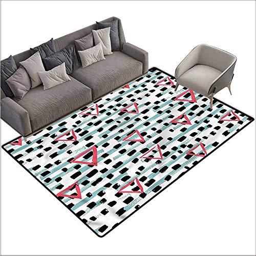 (Carpet for Living Room Geometric,Paint Brush Image 36
