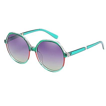 Personalidad Polígono Oversized Womens Frame Gafas de sol Protección UV Lente polarizada Conducción Gafas de sol
