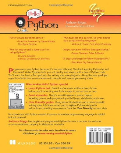Buy Hello! Python Book Online at Low Prices in India | Hello! Python