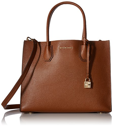 MICHAEL Michael Kors Women's Mercer Tote, Luggage, One Size