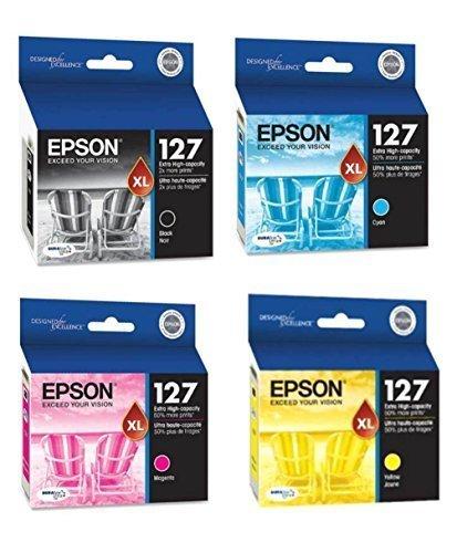 Epson DURABrite Ultra 127 Extra High-capacity Inkjet Cartridge (1, Black, Cyan, Magenta, Yellow)
