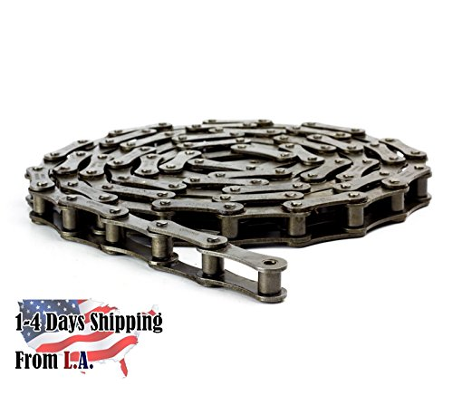 A2050 Conveyor Roller Chain 10 Feet with 1 Connecting Link ()